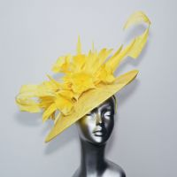 Magnificent Lemon Mother of the Bride Hat 14809/SD149